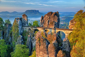 Bastei Rock formation in Germany, Γερμανία