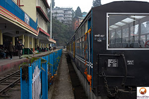 Darjeeling station in India