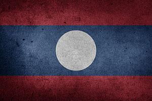 Laos flag Λάος