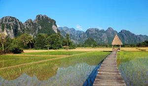 Laos Λάος, Village in Laos